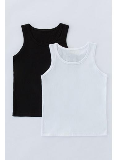 Penti Siyah Beyaz Erkek Çocuk Basic 2Li Atlet Renkli